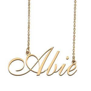 Custom Personalized Abie Name Necklace